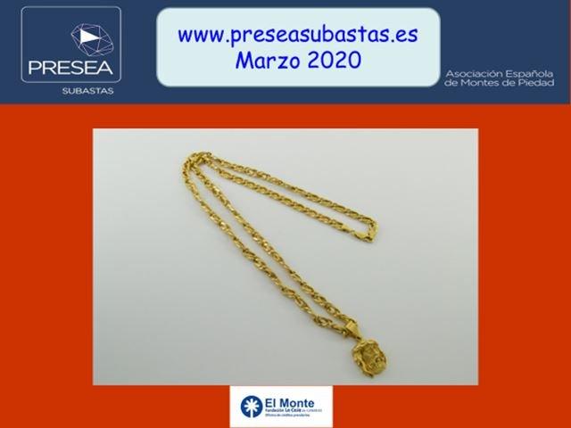 Subasta marzo 2020 - Lote colgante y cordón de oro - Monte de piedad Fundación la Caja de Canarias