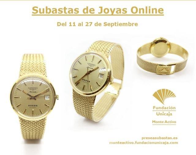 Subastas Monte Activo septiembre 2020 - Reloj de oro Longines