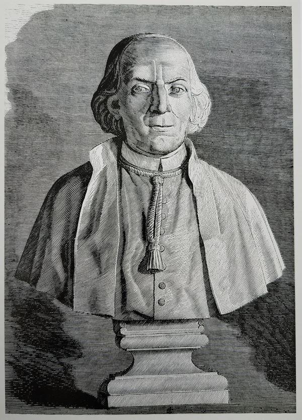 D. Francisco Piquer, Fundador del Monte de Piedad de Madrid - Grabado Biblioteca Nacional