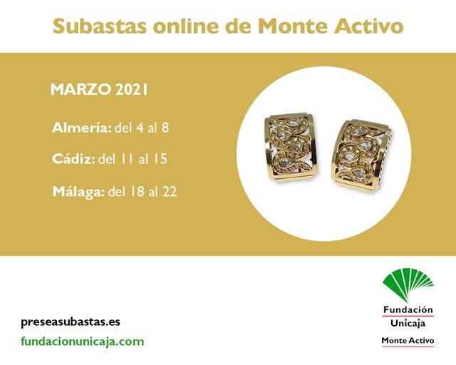 Monte Activo - Subastas online de joyas marzo 2021