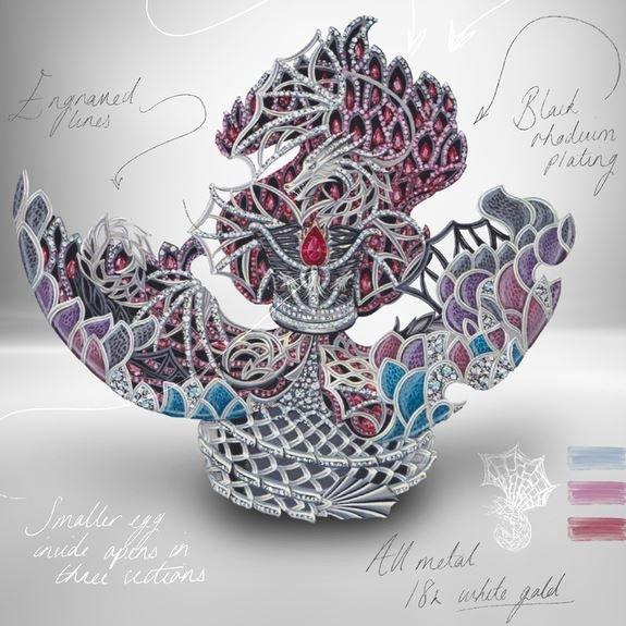 Faberge - Huevo 10 Aniversario Juego de Tronos