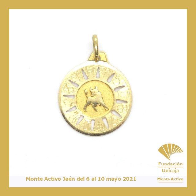 Monte Activo - Subastas online de joyas mayo 2021 Jaén - Colgante Tauro oro