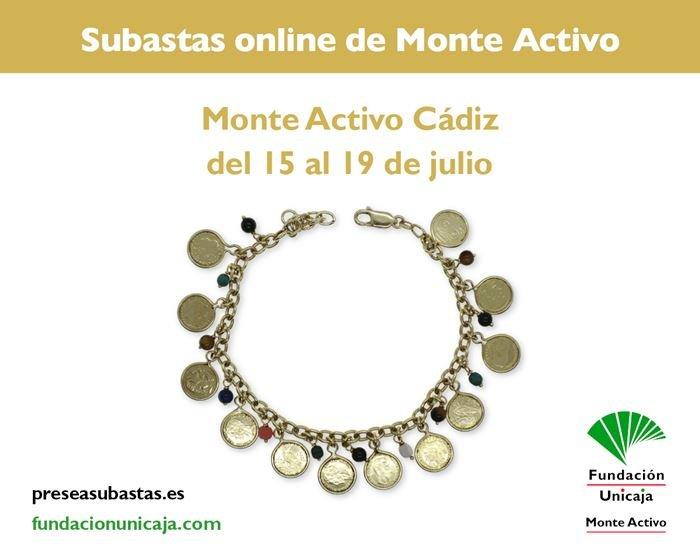 Subastas online de joyas julio 2021 - Monte Activo Cadiz