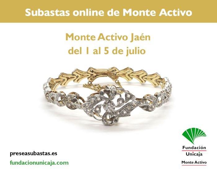 Subastas online de joyas julio 2021 - Monte Activo Jaen