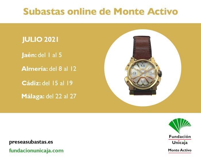Subastas online de joyas julio 2021 - Monte Activo