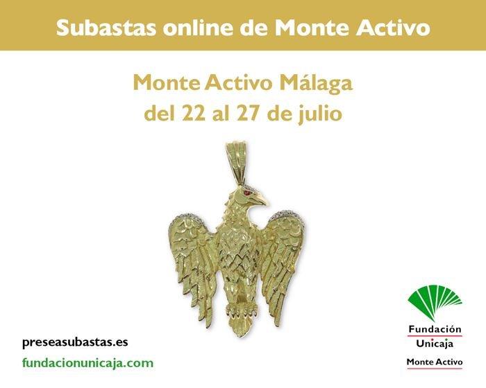 Subastas online de joyas julio 2021 - Monte Activo Málaga